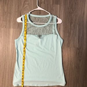 Tank top with lace detail